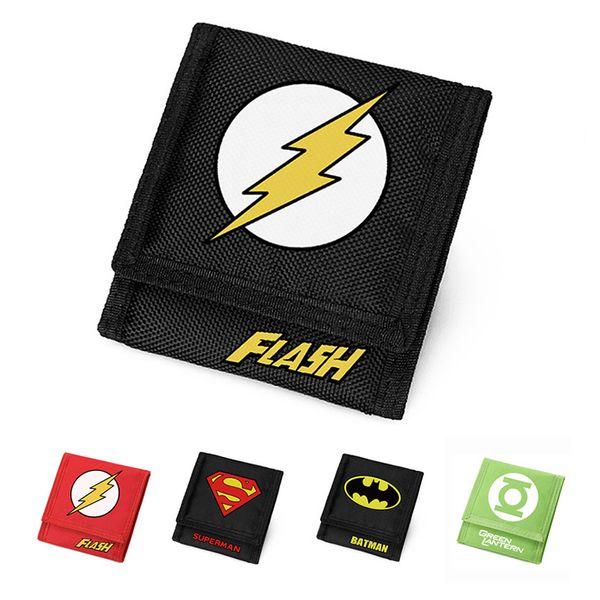 DC Marvel Wallet Men Kurze Geldbörse Batman Superman Die Flash Wallets Kinder Geschenk Carteira Amerikanischen