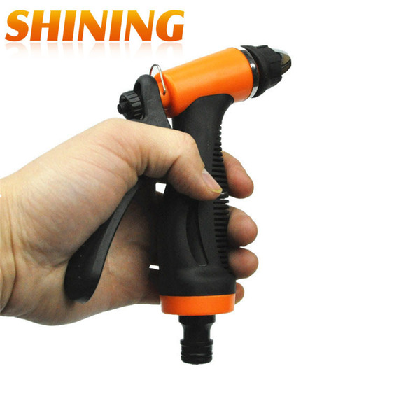 Wholesale- Free Shipping Home Car Wash Water Gun High Water Pressure Bearing Washer Gun Head Cleaning Water Gun Nozzle Sparyer