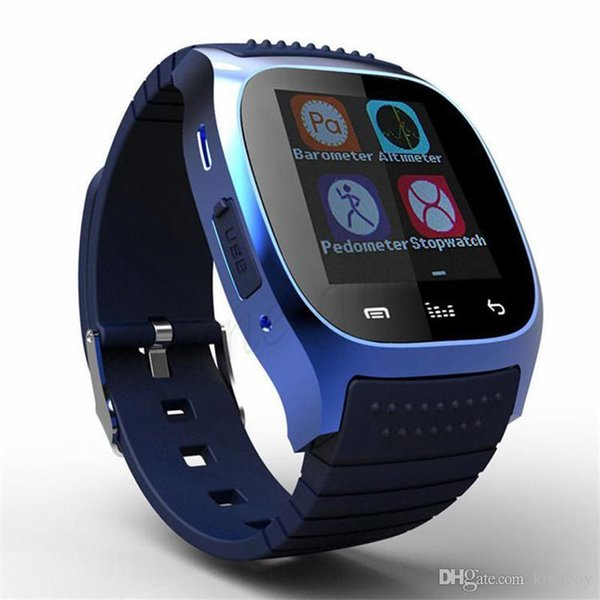 M26 smartwatch Wirelss Bluetooth Smart Watch Phone Bracelet Camera Remote Control Anti-lost alarm Barometer V8 A1 X6 watch for IOS Android