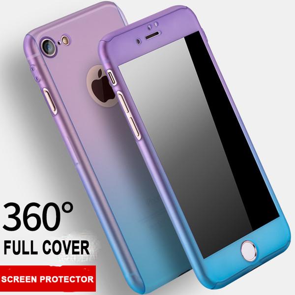 4ef48622e1c Funda de cobertura de degradado de color caramelo para iPhone 7 Funda de 360