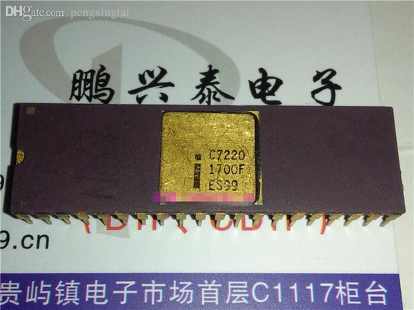 C7220 ES . Gold surface dual in-line 40 pin dip ceramic package / integrated circuits ICs . 7220 . CDIP40 , Vintage Chips collection