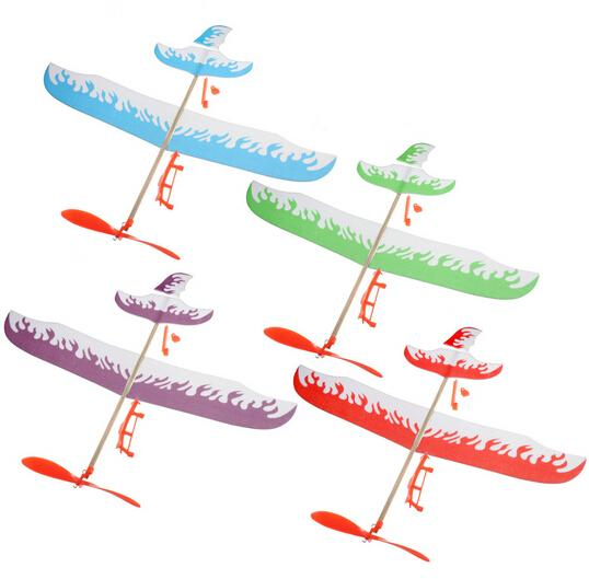 Thunderbird Teenagers Aviation Elastic Rubber Band Power Flying Airplane Plane Glider DIY Assembly Model