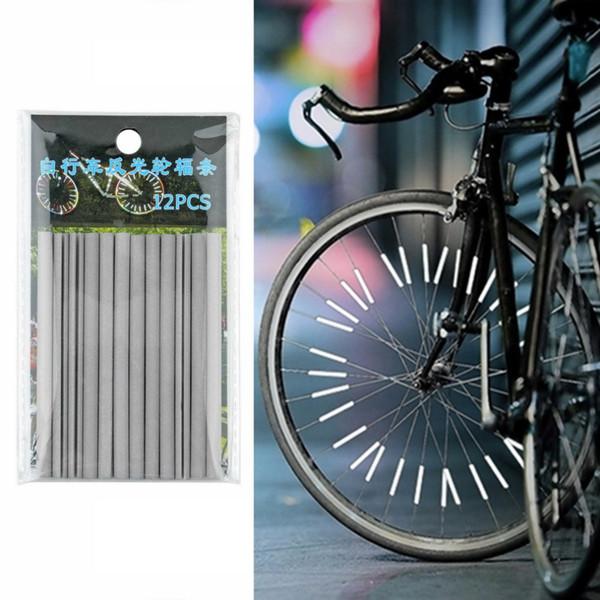 Großhandel HEIßER Verkauf 12 STÜCKE Fahrrad Reiten Fahrrad Felge Reflektierende Speichen Warnleuchte Rohr Fahrrad Warnleuchte Streifen Reflektor