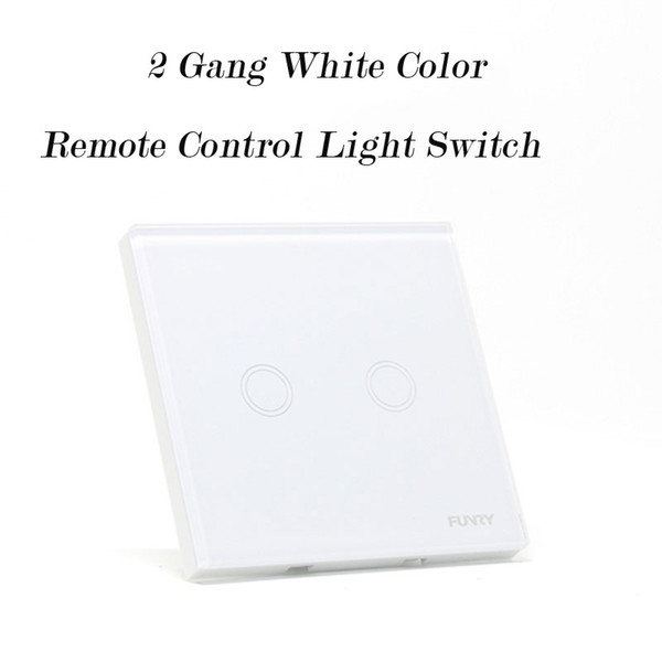 Wholesale-Smart Home Wall Light Switch,White Pearl Crystal Glass Panel ,2 Gang 2Way Touch Remote Control Wall Switch Compatible Broadlink