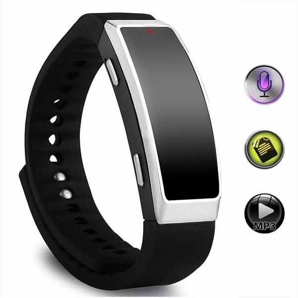 scegli il più recente migliore collezione nuovo di zecca Acquista Sport Bracciale Audio Registratore Vocale Digitale 8GB Wristband  Audio Registratore Di Suoni Mini Bracciale Ricaricabile Dictaphone Con ...