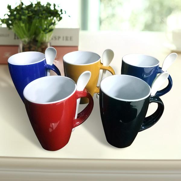 867cd09768f Ceramic Custom Coffee Mugs Cups With Matching Spoon Handle Milk Tea Juice  Mugs Customizable Cups Wholesale Purchasing Support Custom Mugs Cheap  Custom ...