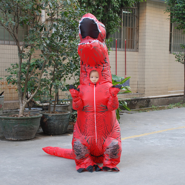 Red Inflatable Kids T Rex Dinosaur Halloween Costume Party For Boys Blow Up Anime Character Suit Cosplay Fancy Dress