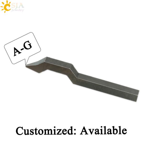 CSJA Buchstaben A B C D E F G Silber Gold Männlich Weiblich Schmuck Metall Stahl Stempel Werkzeugform Punch Ring E179 A