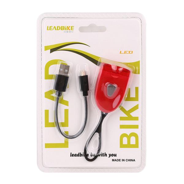 LEADBIKE универсальный 2 LED велосипед горный велосипед задний фонарь водонепроницаемый USB ночь безопасности предупреждение велосипед свет лампы аксессуар