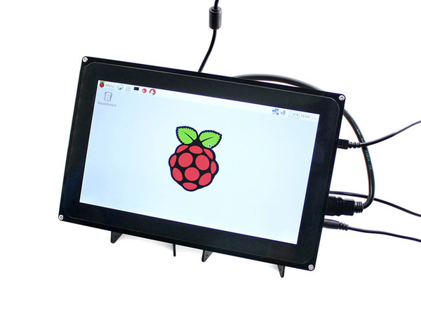 Freeshipping 10.1inch raspberry pi 3 touch screen dispaly 10.1inch HDMI LCD (H) (with case), 1024x600