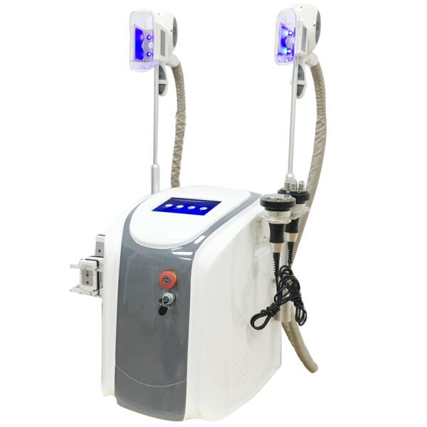 Professional Dual handles Cryolipolysis Freeze Fat Lipolaser Cavitation RF Fat Freezing Cryo Shape Cool Body Sculpting Body Slimming Machine