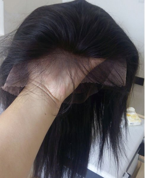 G5A-100% Brazilian Human Hair Full Lace Wigs Lace Front Wigs Straight Virgin Human Hair Wig With Baby Hair,Density 130,Free DHL