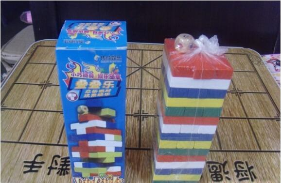 45 pieces of colored layers stacked high building blocks large pumping stacked stack table pavilion wood puzzle toys