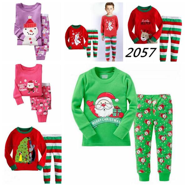 100% Cotton Christmas Pajamas Set Cartoon Boys Sleepwear Children's Pajamas For Boys 2-7 Years Girls Pajamas Christmas Set