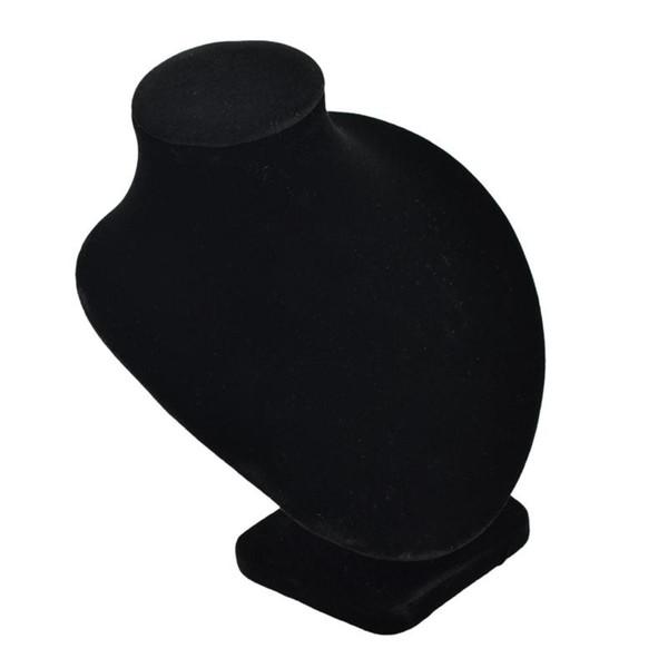 Black White Velvet Colar Mannequin Jewelry Pingente de exibição Stand Holder Show Display