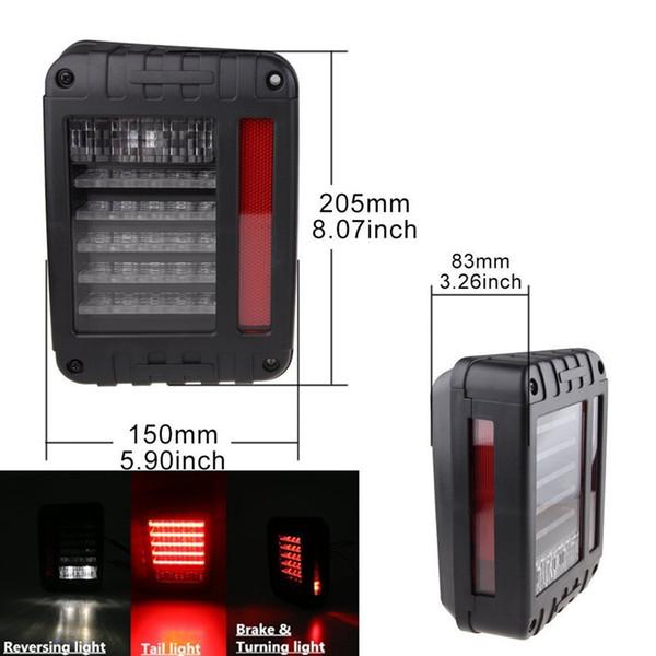 Дым объектив LED тормозные задние фонари лампы Ассамблеи преобразования заднего хода Singal обратные огни для Jeep Wrangler 07-15 JK