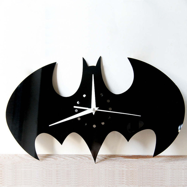 best selling FUNLIFE DIY 3D mirror wall clock batman clock home decoration modern fashion 5 pattern beautiful and fashion