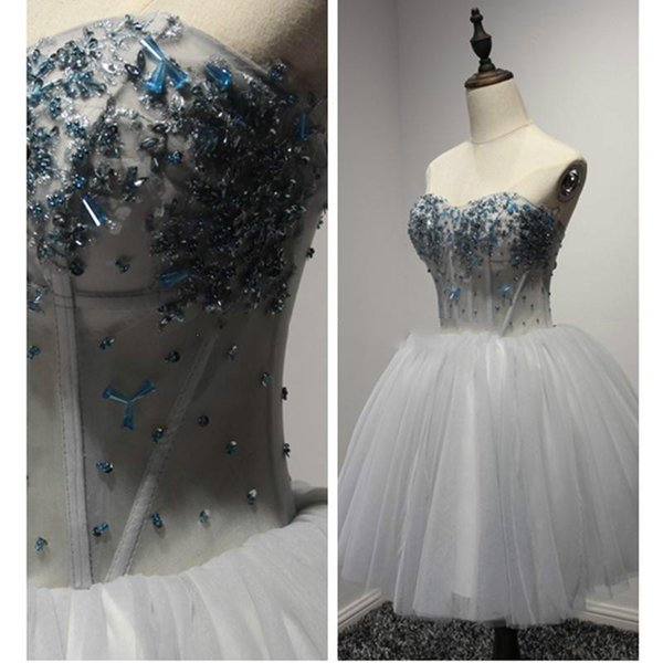 2017 Real Photos Cheap Short Corset Prom Dresses Custom Made Under 100 Mini Sweet 16 Lace-up Sweatheart Bows Actual Picture Homecoming