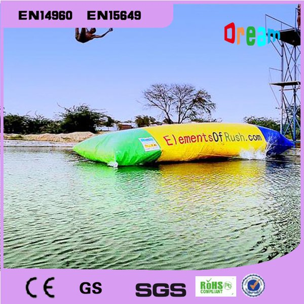 top popular Free Shipping 6*2*1m PVC Water Blob Jump Inflatable Water Catapault For Amusement Sports Play 2021