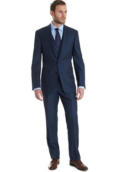 Latest Men's Suits Fashion Design Groom Tuxedo Three Pieces Notch Lapel Suits Man Formal Party suits (jacket+pants+vest)