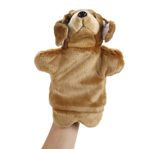 top popular Dog Hand Puppet Adorable Cartoon Dog Hand Puppet Children Educational Soft Doll Animals Toys for Baby Kids 2021