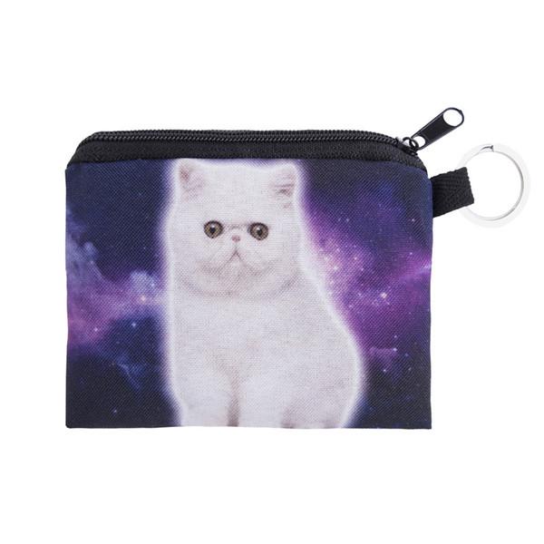 Vente en gros-nouvelles femmes porte-monnaie mignon fille animal mini sac porte-clés cas porte-monnaie portefeuille belle chat visage pochette changer sac à main en gros cp4048