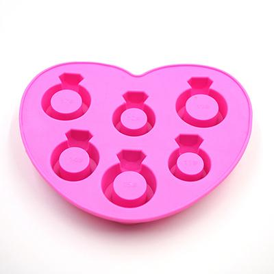 Ice Tray Diamond Love Ring Ice Cube Style Freeze Ice Mold Ice Maker Mould Silicone Freeze Chocolate Mold