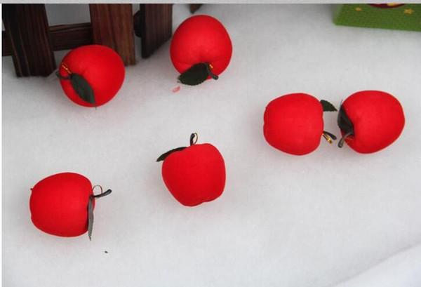Free Dhl Mini Merry Christmas Tree Ornaments Apple 4 Cm Party Decorations Apple Foam Festival Decor Supplies Holiday Christmas Window Decorations