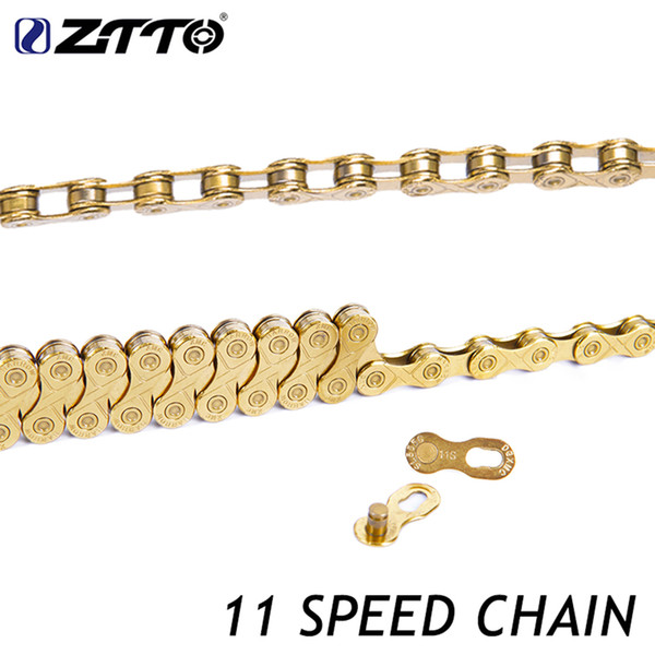 ZTTO 11s 22s 33s 11 Speed MTB Mountain Bike Road Bicycle Parts High Quality Durable Gold Golden Chain for Shimano SRAM System