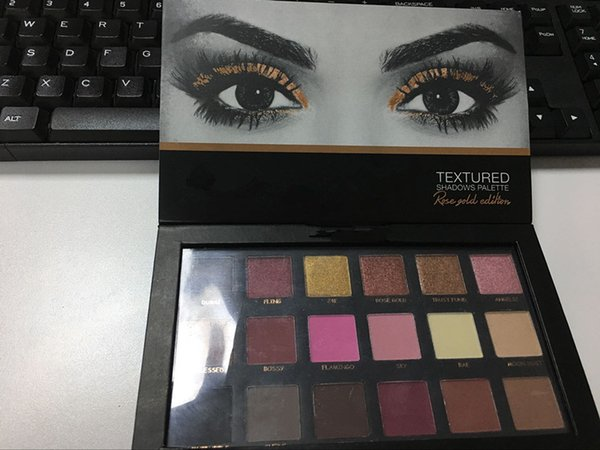 In tock chri ma 18 color eye hadow ro e gold textured pallete make up eye hadow palette real pic
