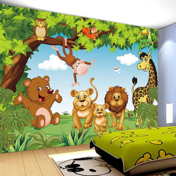 Großhandel Cartoon Animation Kinderzimmer Wandbild Für Kinderzimmer Jungen  / Mädchen Schlafzimmer Tapeten 3D Wandbild Tapete Benutzerdefinierte Jede  ...
