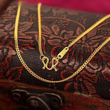 """20"""" Fine 14K Yellow Gold Necklace / Men&Women Curb Link Chain Necklace /3.4g"""