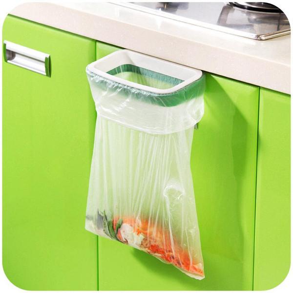 2016 garbage bags stent can be hanging kitchen cupboard door back style trash garbage bags garbage bags frame Storage Rack