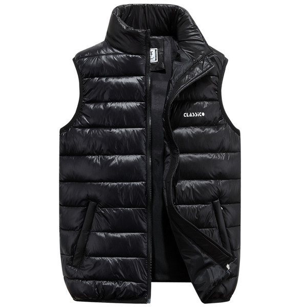 best selling 2019 Winter Brand Mens Down Casual Vest Designer Down Dress Vests Homme Fashion Thick Warm Sleeveless Jacket For Men Plus Size