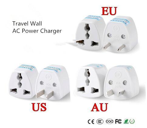 best selling New 1PC Universal US UK AU To EU Plug USA To Euro Europe Travel Wall AC Power Charger Outlet Adapter Converter 2 Round Socket Pin