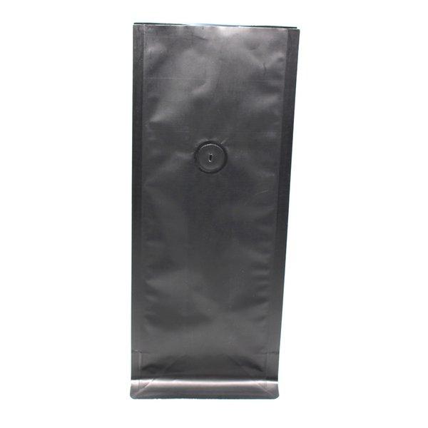 11*27cm 15Pcs/Lot Black Open Top Matte Organ Bag Pure Aluminum Foil Bellows Pocket For Sugar Snacks Mylar Package Bag
