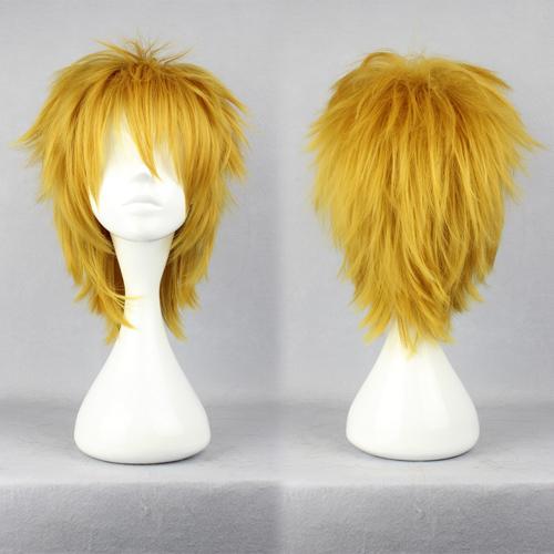 MCOSER 2014 DuRaRaRa Heiwajima Shizuo Yellow Golden Blonde Short High Grade Cosplay Wig Free Shipping