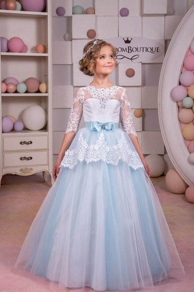 Girl&39S Pageant Dresses 2017 New Ball Gown Flower Girl Dresses Lace ...