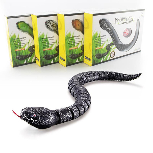 IR RC Animali Rattlesnake Serpente Centipede Bionic Reptile 3CH infrarosso Radio Remote Snakes controllo Chilopod Rattle Snake Tricky Giocattoli