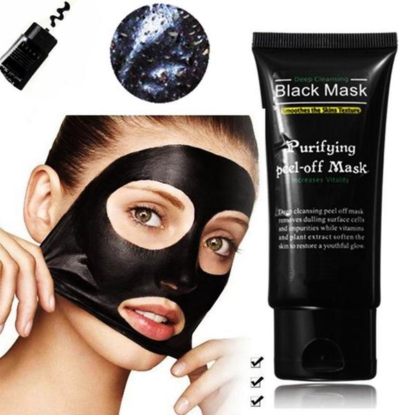 DHL élimine les points noirs Masques profonds pour le visage Nettoyage en profondeur Purifiant Peel Off Black Nud Facail Face Black Mask