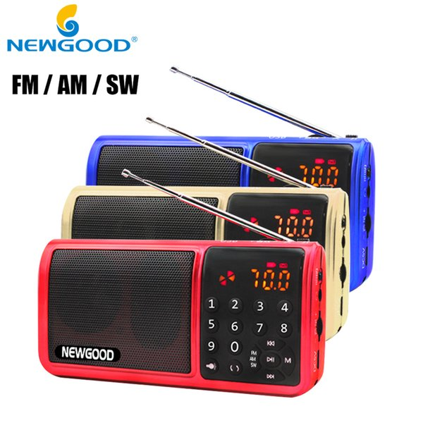 Wholesale-Mini Fm Pocket Radio 18650 Rechargeable Tf Usb Digital AM FM SW Full Band Radio Portable Mp3 Speaker Usb Receivers Loudspeakers
