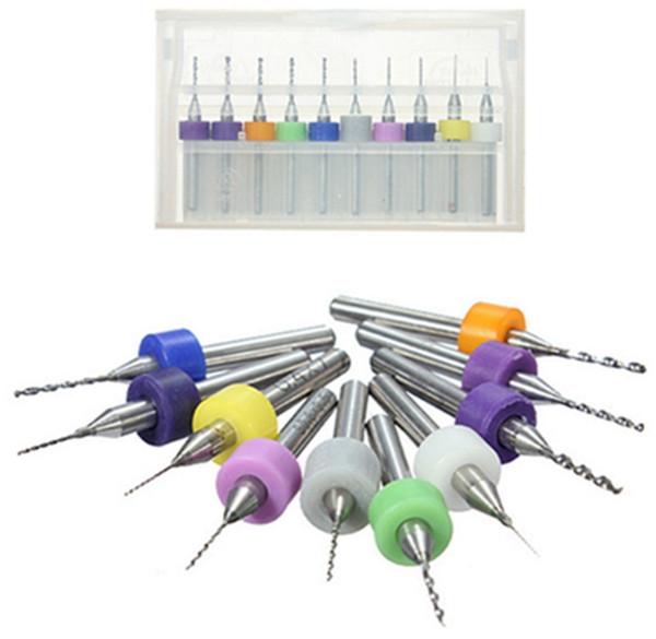 10PCS/set Drilling Bit Tool Mini Twist Drill Bit PCB CNC Jewelry Set Work Rotary Tools 0.3mm to 1.2mm Tungsten Steel Hand Tools