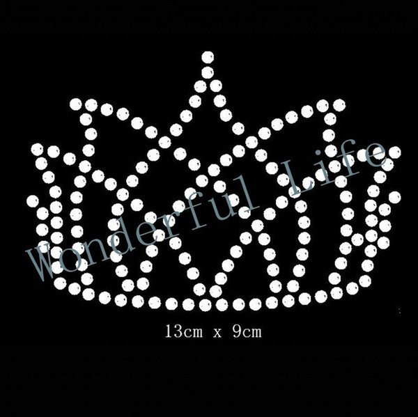 Free shipping crown hotfix Rhinestone Motif Transfer in nice Design for clothing wholse made in best factory