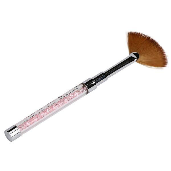Wholesale- Toopoot 2017 Professional 1PCS Nail Art Fan Pen Brush Nail Tools Gel Pen Brush Crystal Acrylic Handle Natural Cheap Wholesale