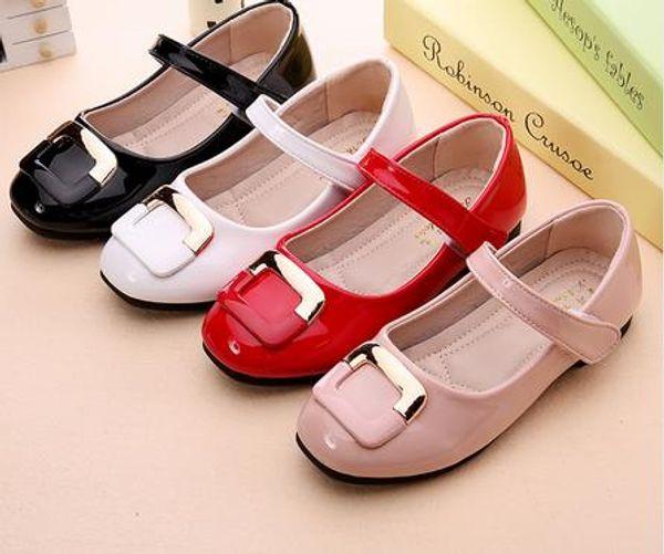 Mode 2016 neue Mädchen Party Schuhe Chaussure flache Prinzessin Liang Kinder Hochzeit Schuhe Schule weichen PU Leder Slipper