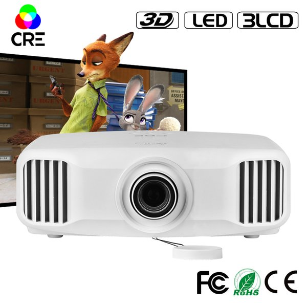 Wholesale- 1920*1200 FULL HD 1080P high definition 2K support 4k 3LCD wifi 3d projector with 3300lumens