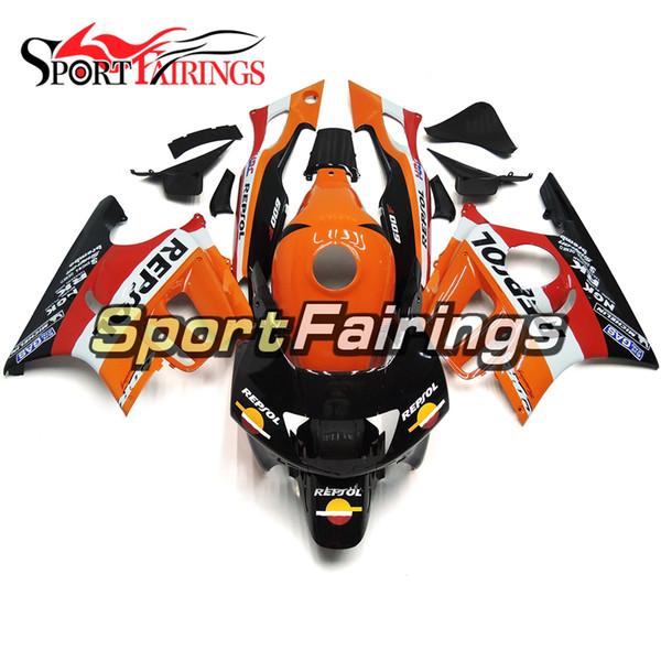 Motorrad-Einspritzverkleidung für Honda CBR600F3 97 98 1997 1998 ABS-Kunststoff-Verkleidungs-Kit Karosseriebeschlag schwarz orange weiße Verkleidung
