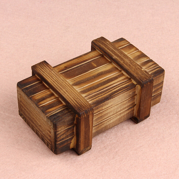 best selling Wholesale-Novel Designs Intelligence Magic Puzzle Wooden Secret Box Compartment Gift Brain Teaser New