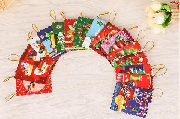 Рождественские Открытки Печатные Рождественские Украшения Желая Карты 6.5X5.Сладостное желание 5cm симпатичное для подарка малышей дня рождения с розничным пакетом