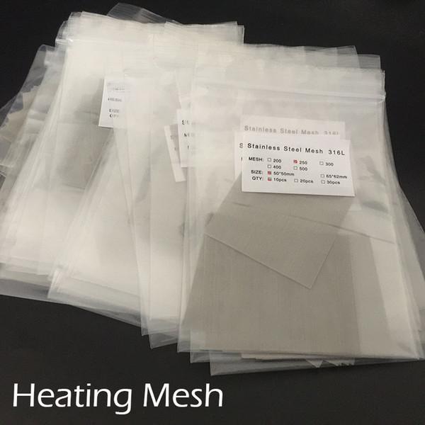 Bobine riscaldanti Rete riscaldante in rete di nichel per RDA 316 L Acciaio inox 5 misure Bobine RDA fai da te 10pcs per borsa Fit CETO RDA